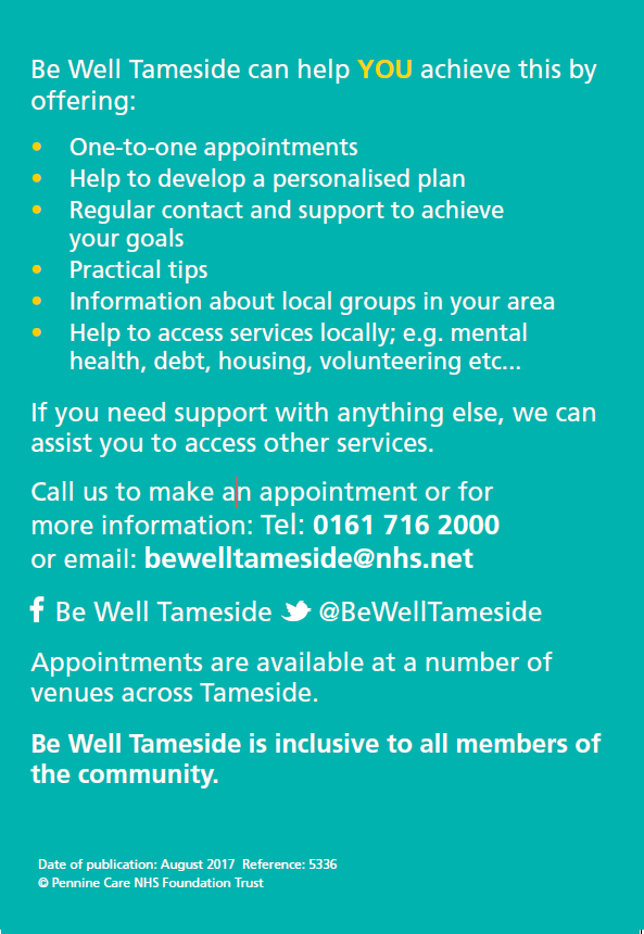 Be Well Tameside - smokefree