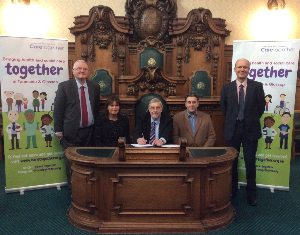 Tameside and Glossop Leaders sign funding deal
